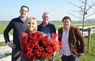 Boerenboeket voor Yvon Jaspers op Valentijnsdag