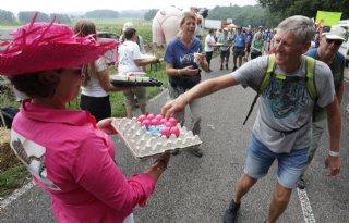 Roze+eieren+voor+wandelaars+Vierdaagse