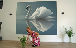 Nauta doceert sacrale dans in Friese boerderij