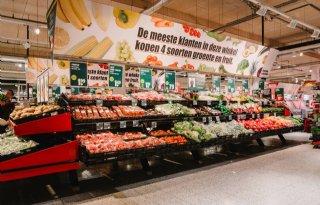 Supermarkt+zet+in+op+extra+verkoop+groente+en+fruit