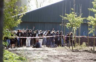 Tegenactie+dierenactivisten+bij+boerenprotest