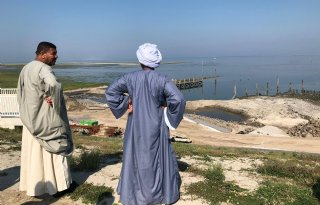 Egyptische delegatie bekijkt Texels watermanagement