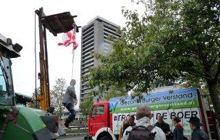 Protesterende Brabantse boeren eisen uitstel milieumaatregelen