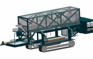 Cerescon 1-rijige zelfrijdende aspergeoogstmachine