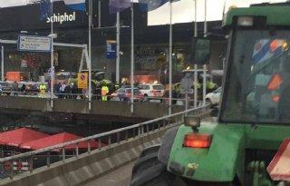 Boeren op trekker naar Schiphol