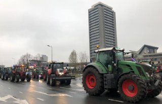 Farmers Defence Force op weg naar vliegveld Eindhoven