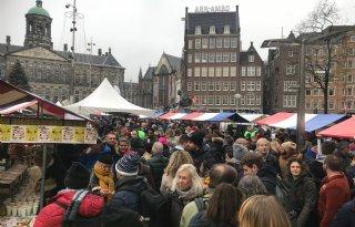 Boeren voeren actie op de Dam in Amsterdam