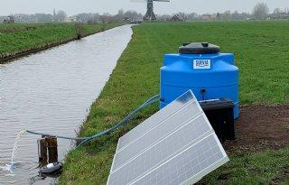 Peilgestuurde drainage werkt op zonne-energie