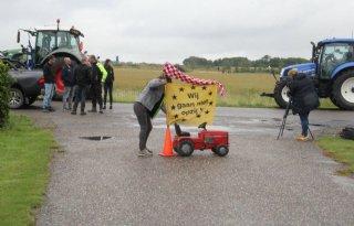 Werkbezoek+Schouten+afgelast+wegens+protest+boeren