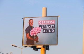 Gerberatelers+prijken+op+billboard