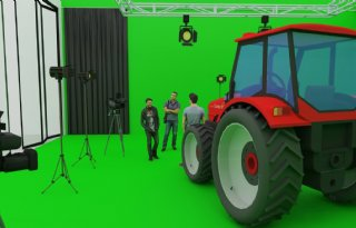 Studio voor digitale lessen aan trekkermonteurs