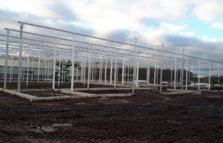 Nieuwbouw onderzoekslocatie zachtfruit Delphy in Horst vordert