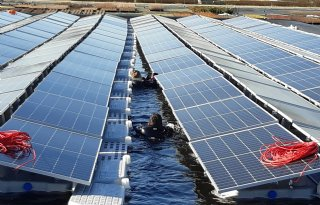 Brabantse primeur met zonnepark op waterbassin