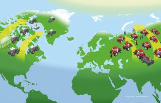 Verschuift de landbouw naar het noorden door opwarming?