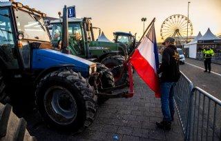 Boeren protesteren bij circuit van Zandvoort
