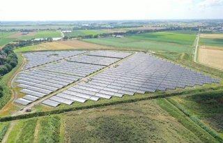 Grote zonneweide bij fabriek Cosun Beet Company in Puttershoek