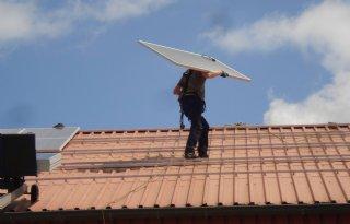 Zonnepaneel verslaat windmolen
