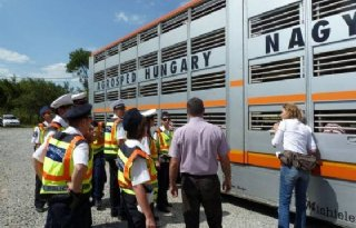 Eyes+on+Animals+traint+Hongaarse+politie