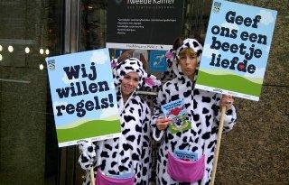 Actie+in+Den+Haag+voor+welzijn+melkvee