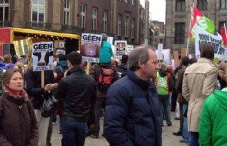Demonstratie tegen megastallen op de Dam