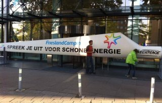 Actie Greenpeace bij RFC-hoofdkantoor