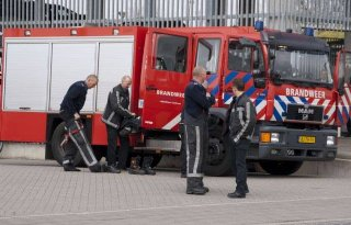 Paard in Lisse vast in drijfzand
