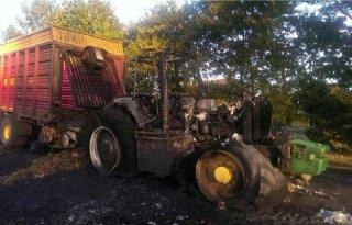 Trekker uitgebrand in Balkbrug