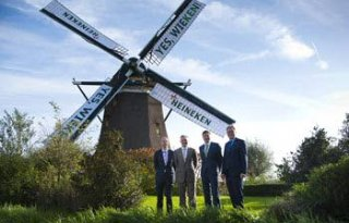 Heineken start bouw vier windmolens