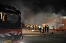 Brand bij mechanisatiebedrijf Benningbroek