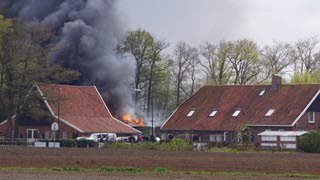 Brand bij zorgboerderij Rietmolen