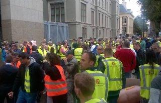 Varkenshoudersactie in Den Haag (video)