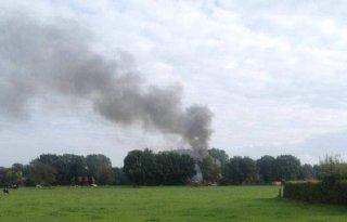 Grote stalbrand in Glane (video)