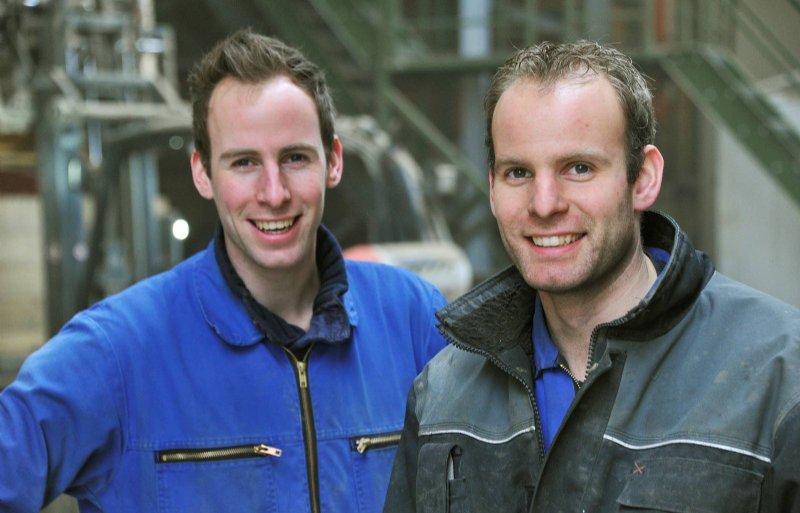 De broers Arjan en Gerald Maters.