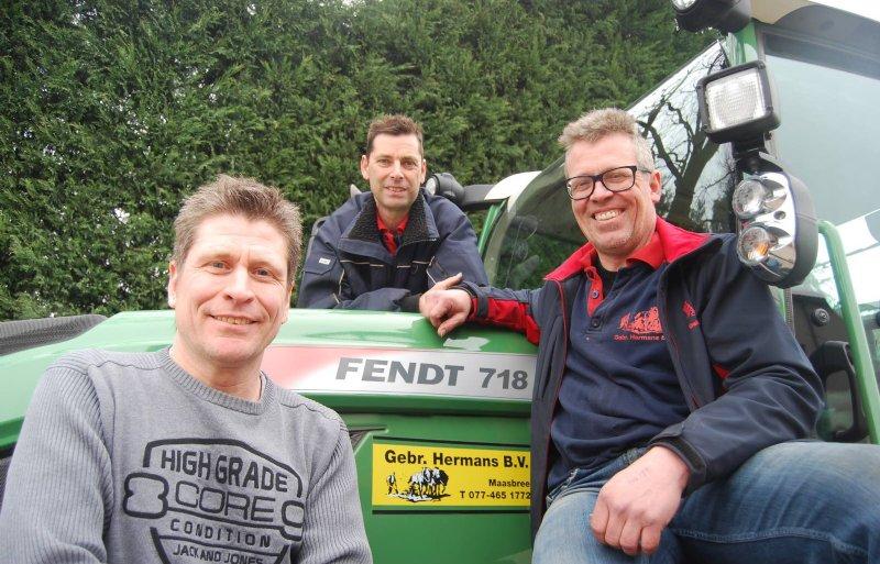 Jaap, Joop en Arno Hermans (van links naar rechts).