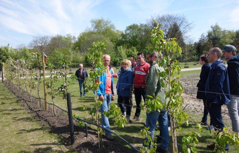 Jack Verouden van ecologische tuinderij De Weitens in Dommelen geeft rondleidingen aan bezoekers.