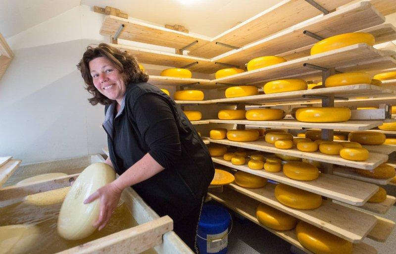 Geke Schoonvelde uit Ruinen maakt boerenkaas.