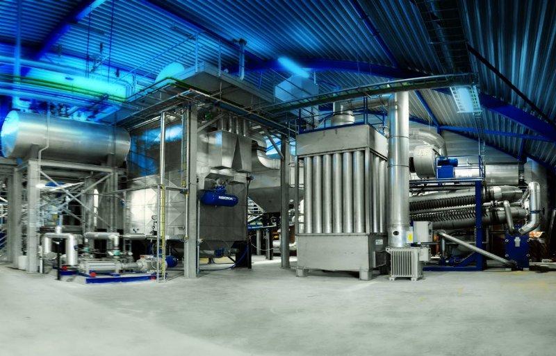 Een voorbeeld van een biomassa-installatie die bij 11 hectare groot paprikabedrijf in gebruik is.