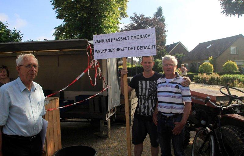 Protestbijeenkomst Varik Heesselt Tweede Kamer bezoek 11-06-18