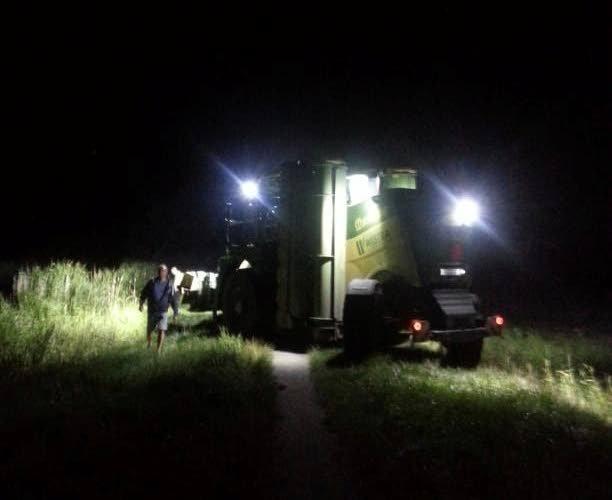 Boeren schenen met hun trekkers en machines Maarten van der Weijden bij.