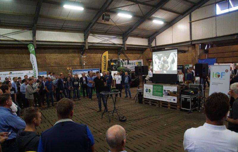 Jacob van de Borne deelde zijn ervaringen met precisielandbouw op de themadag over dit onderwerp op 5 september.