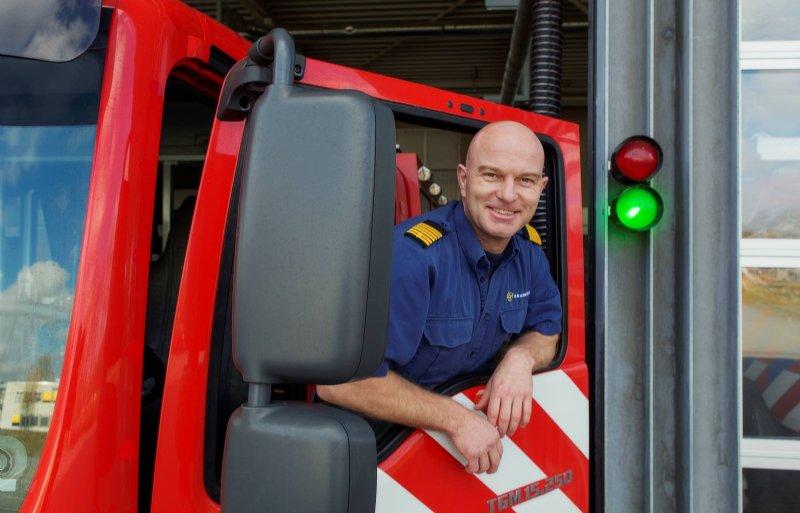 Clusterhoofd van de Friese Brandweer Wim van der Veen.