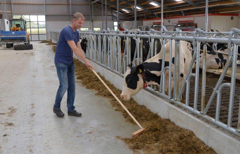 De nieuwe stal van Riekus Vrielink in Noord-Sleen biedt ruimte aan tweehonderd melkkoeien inclusief jongvee.