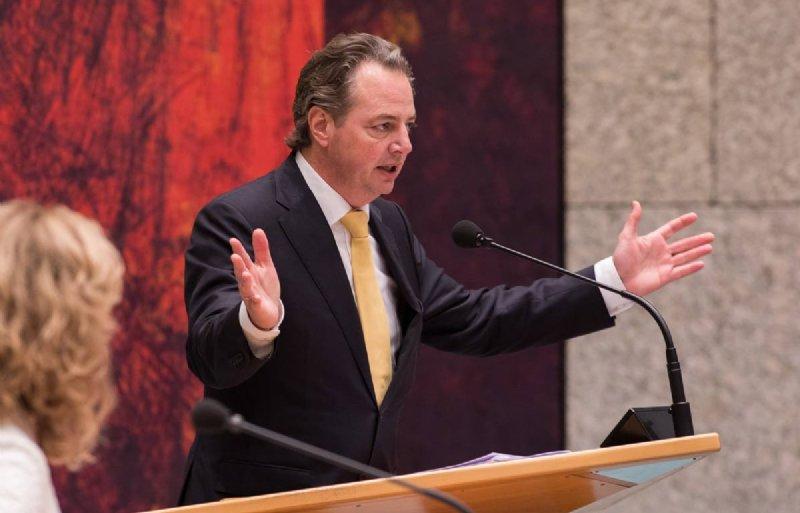 PVV-Kamerlid Barry Madlener tijdens het debat over de landbouwbegroting 2019 in de Tweede Kamer.
