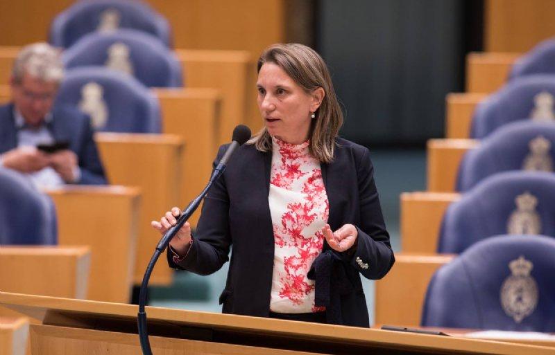 Kamerlid Laura Bromet (GroenLInks) tijdens de behandeling van de landbouwbegroting.