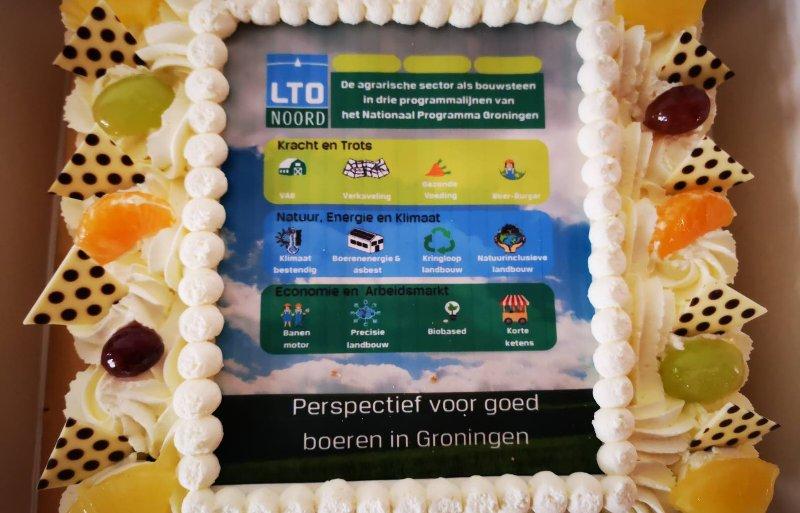 Taart voor de provincie Groningen