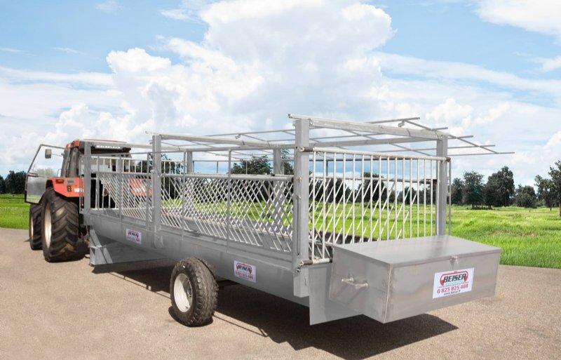 De mobiele voerruif van Beiser is voorzien van een weegcel. Is de wagen leeg, dan stuurt hij via Lora een bericht.