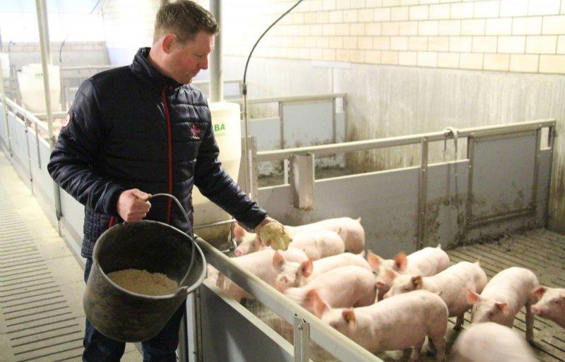Vanwege extra dierenwelzijn strooit Ernst zaagsel.