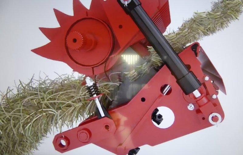 De snijrotor kan voor en/of achter naar beneden, om verstoppingen op te lossen.