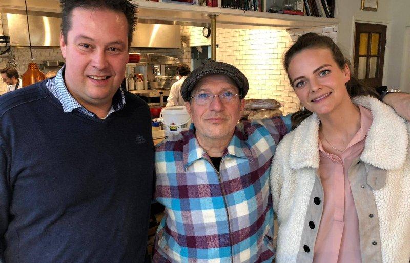 Martin Topper (links) met Alain Caron en Mineke Rezelman.