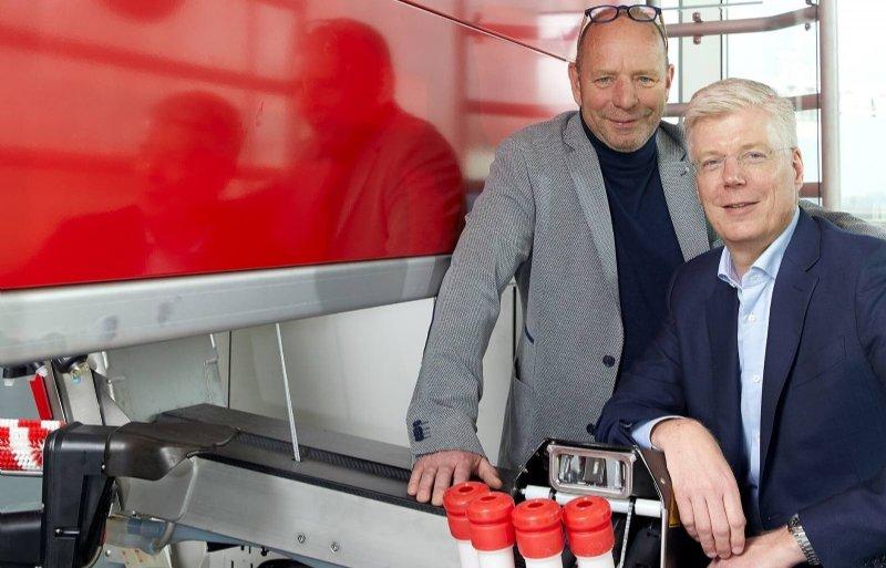 Karel van den Berg (l) en Alexander van der Lely zijn genomineerd voor een uitvindersprijs.